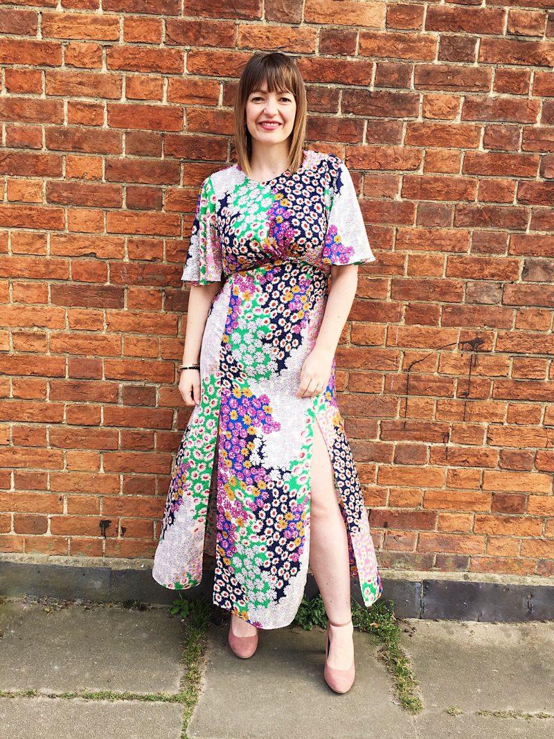 Austin Print Dress Topshop full