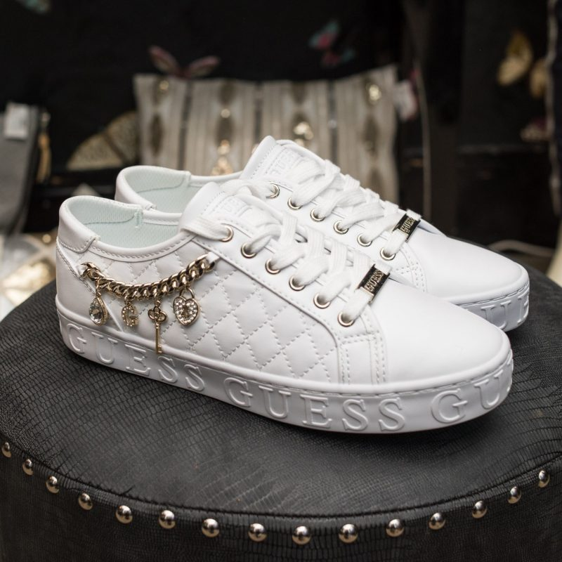 Guess Charm White Trainers