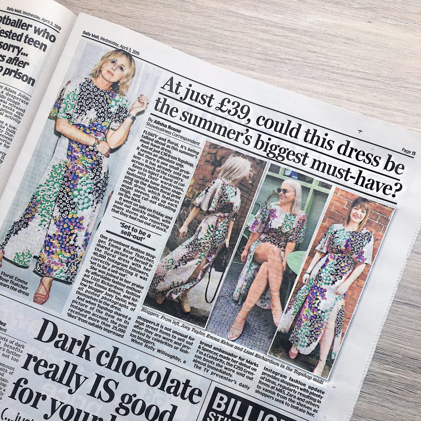 Daily Mail Austin Dress - Lizzi Richardson