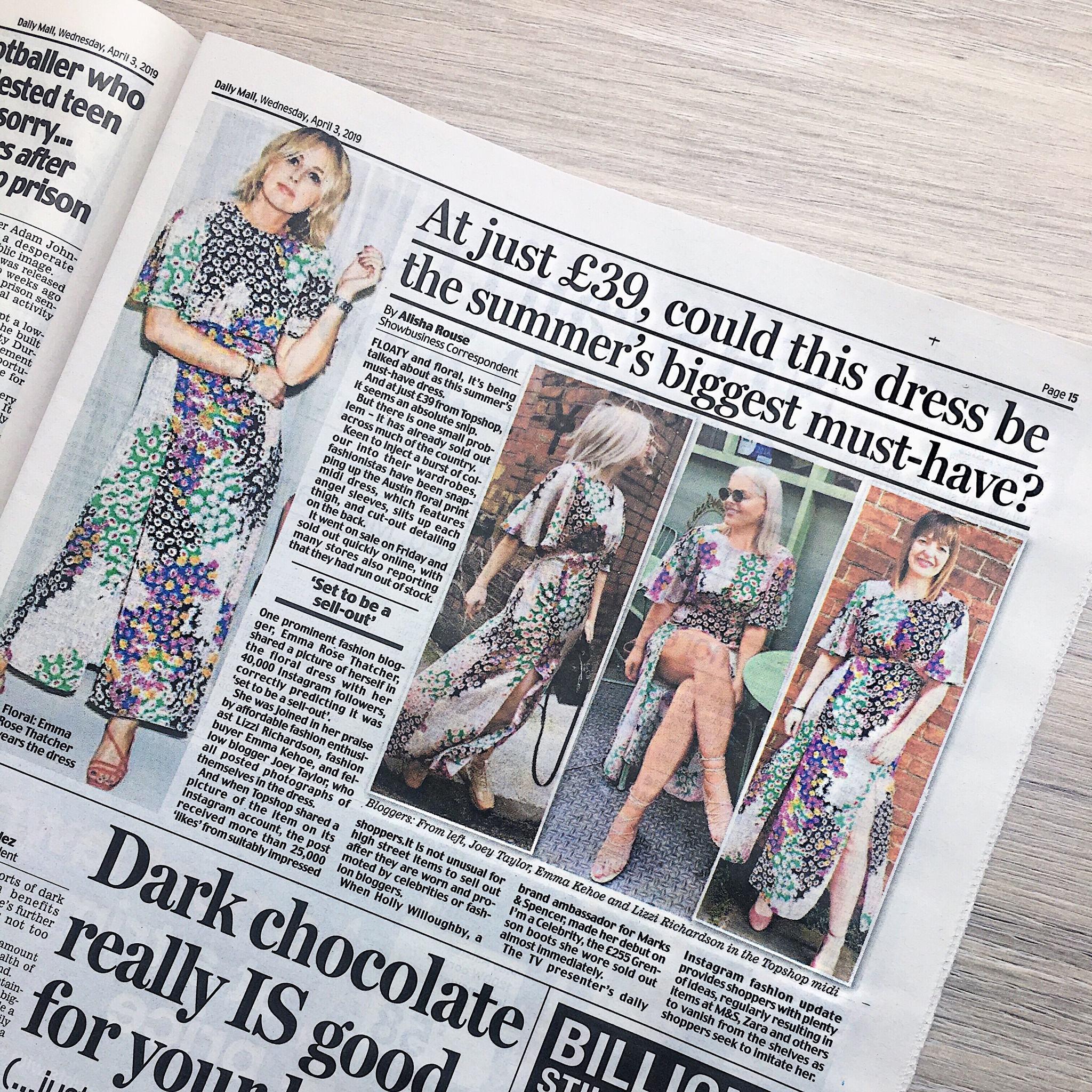 Daily Mail Austin Dress - Lizzi Richardson