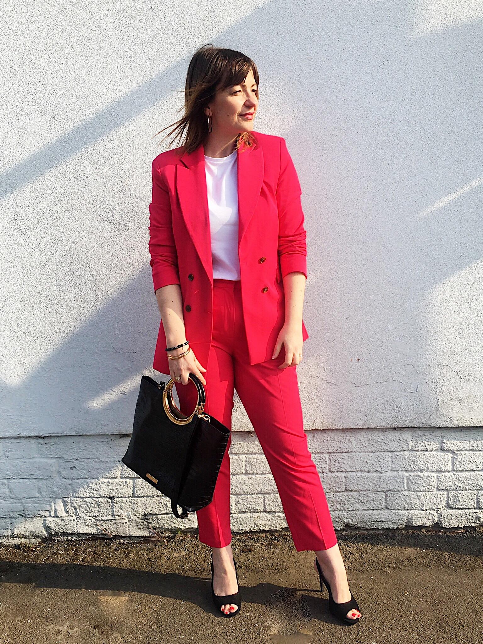 Topshop Pink Trouser Suit