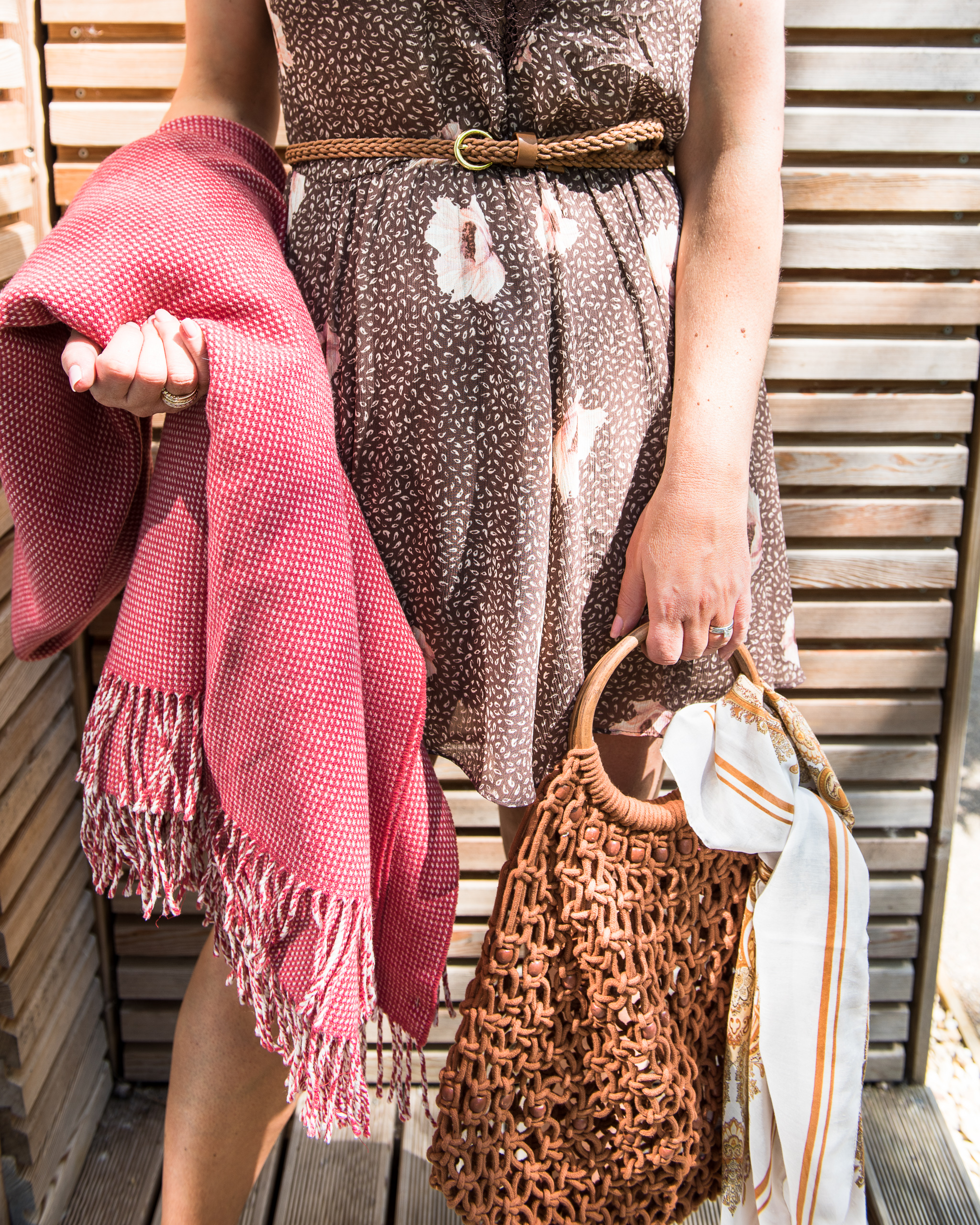 Brown and tan accessories