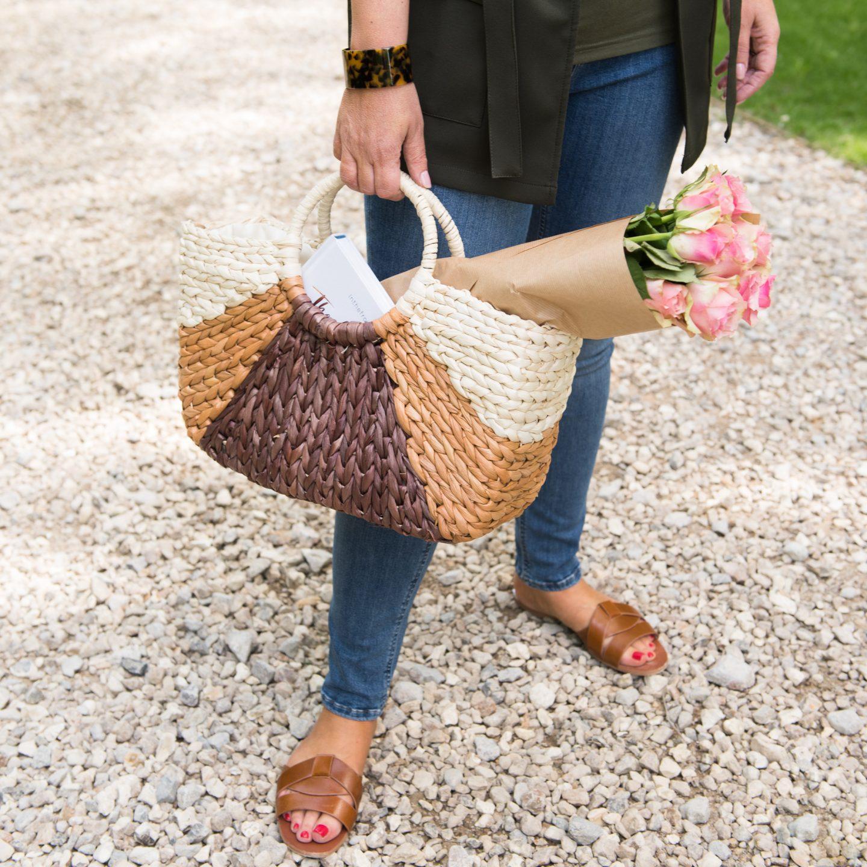 Kaleidoscope Straw bag