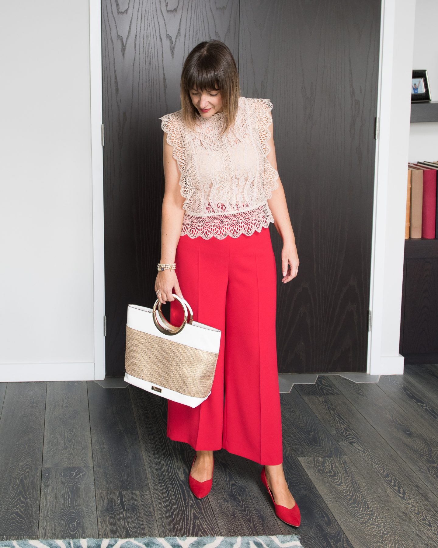 Lizzi Richardson Zara Red Trousers Day Look