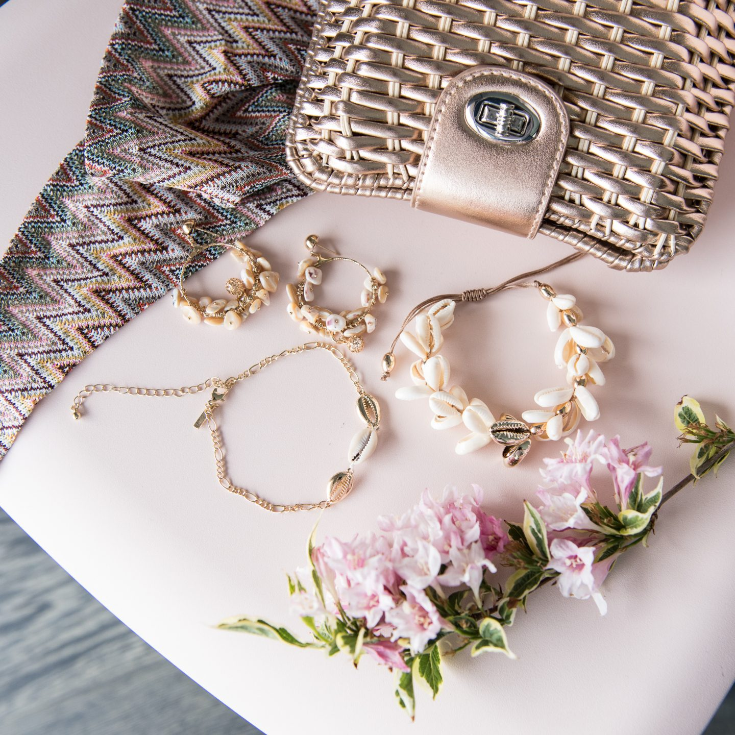 Shell Jewellery Flatlay