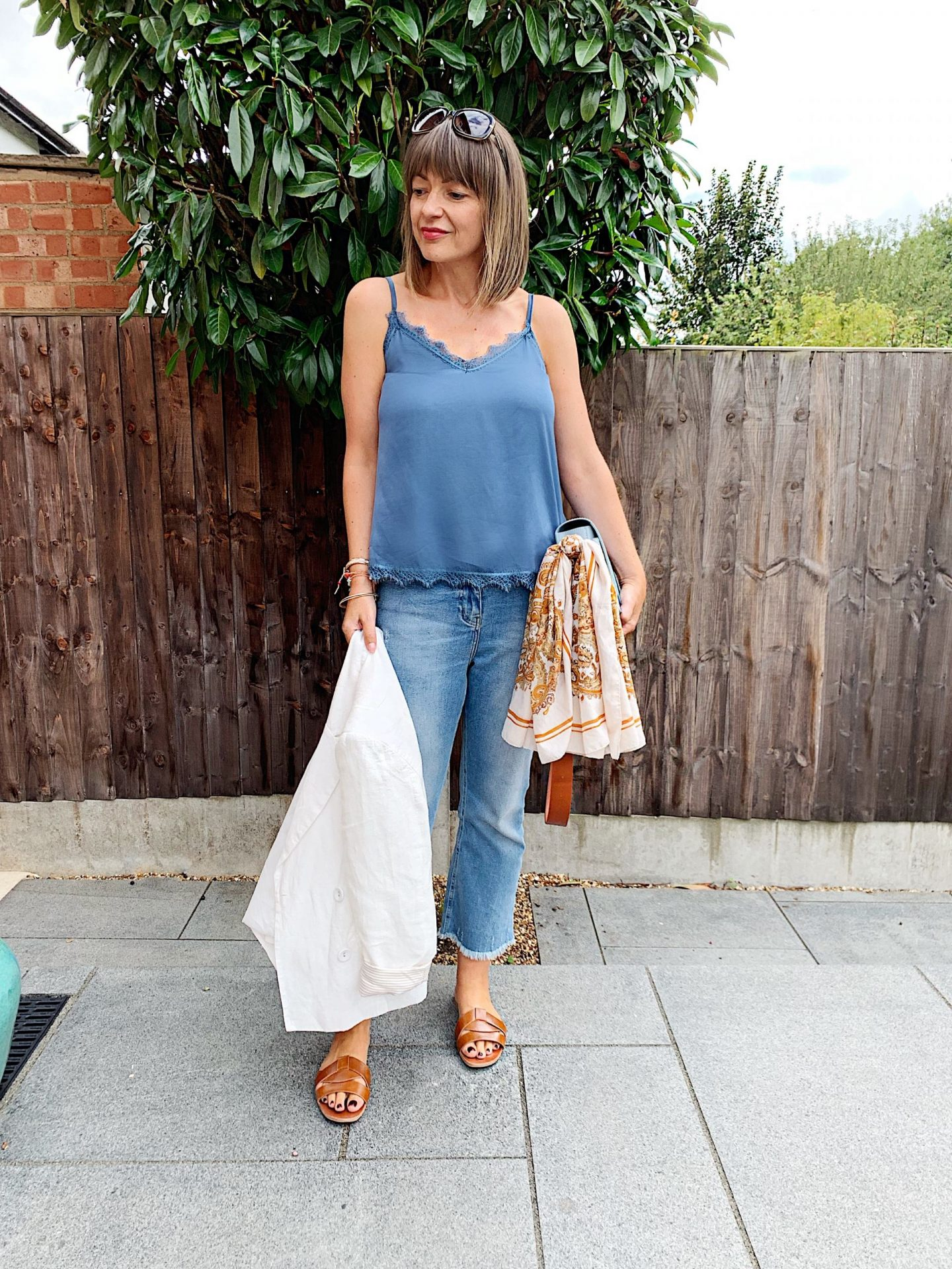 Styling blue jeans