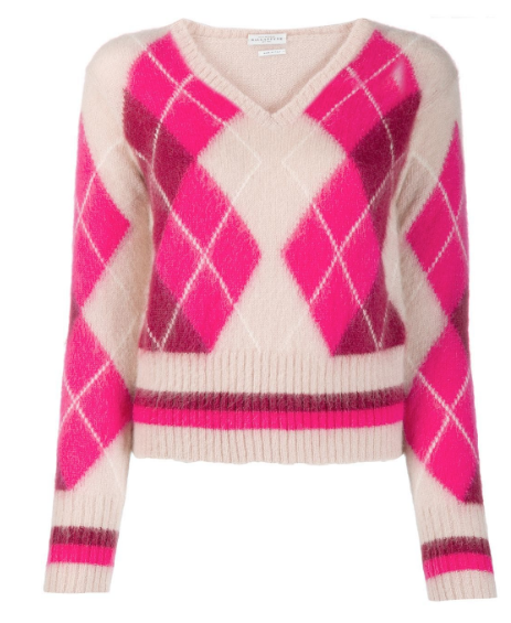 BALLANTYNE argyle knit
