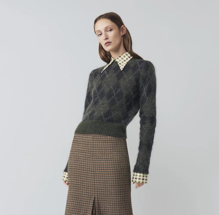 Victoria Beckham Argyle Knit