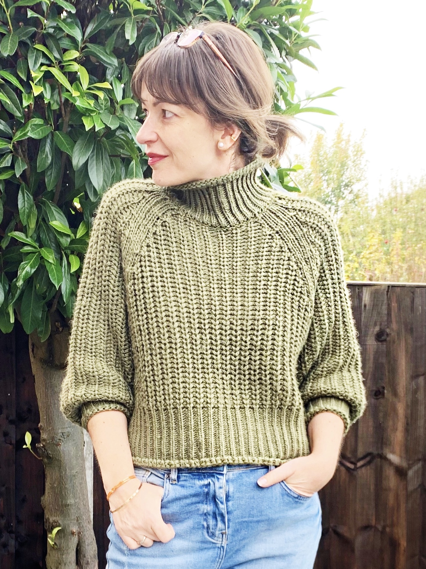 H&M green knit