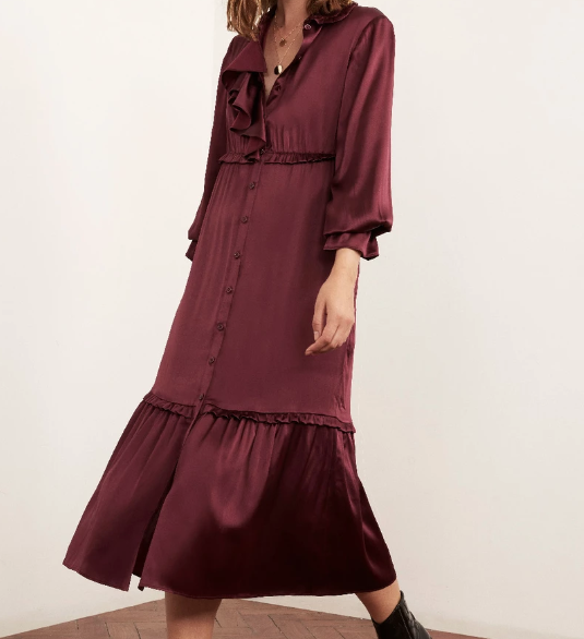 Romily Frill Front Midi Dress