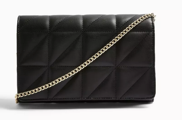QUILTED Black Clutch Bag