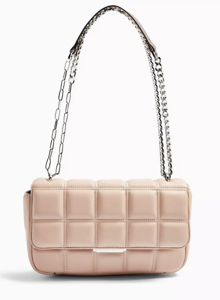 SABRINA Pink Quilted Shoulder Bag
