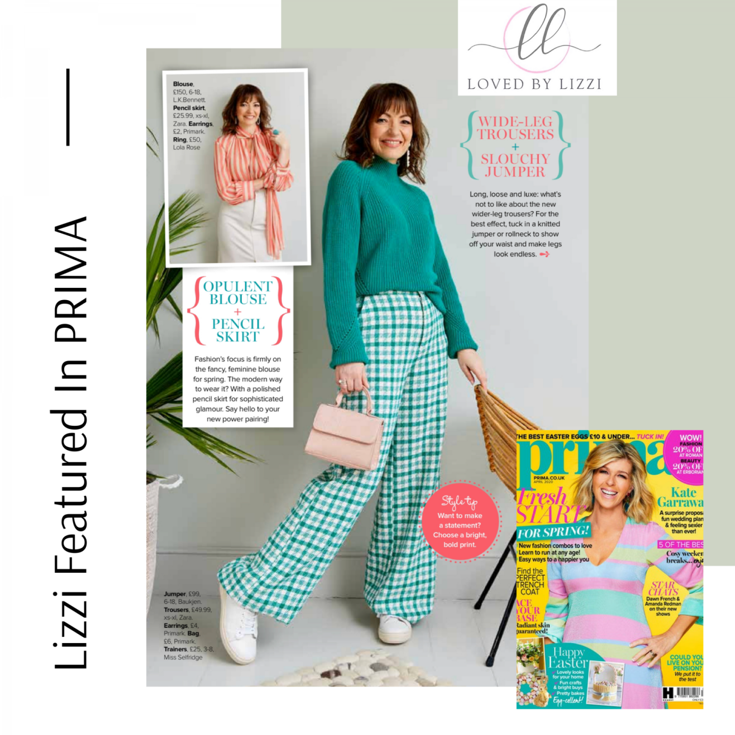 Lizzi Richardson pages from Prima Magazine April 2020