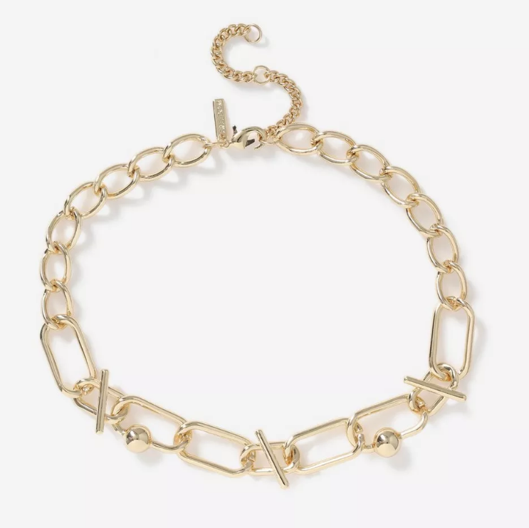 Chunky gold necklace for spring 2020