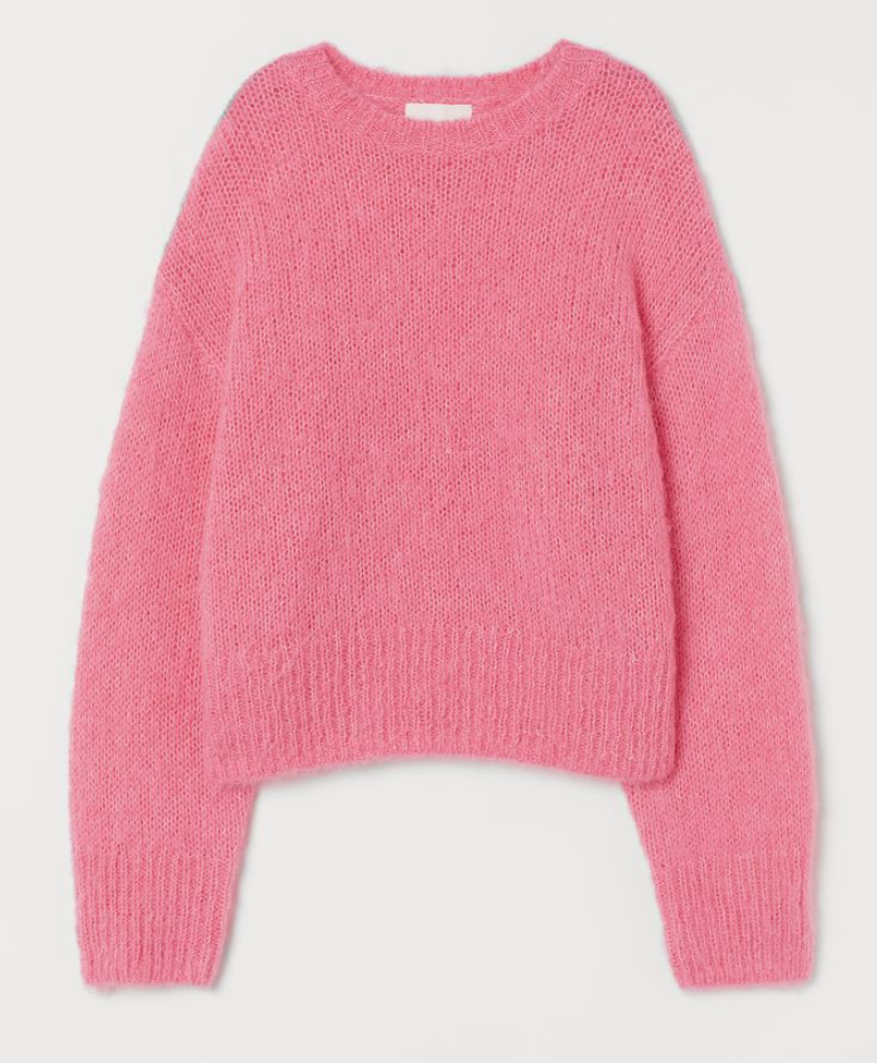 Knitted Pink Jumper