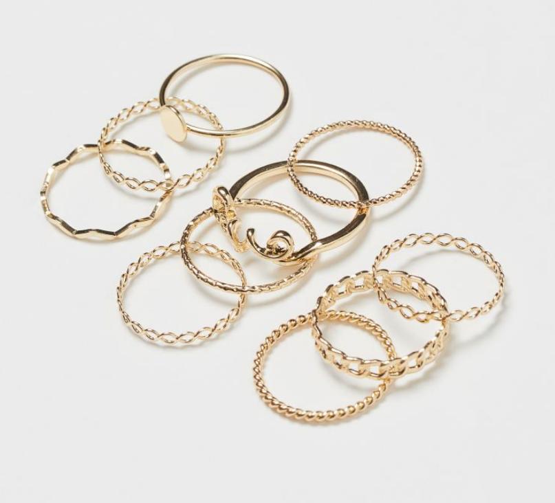 10 gold rings