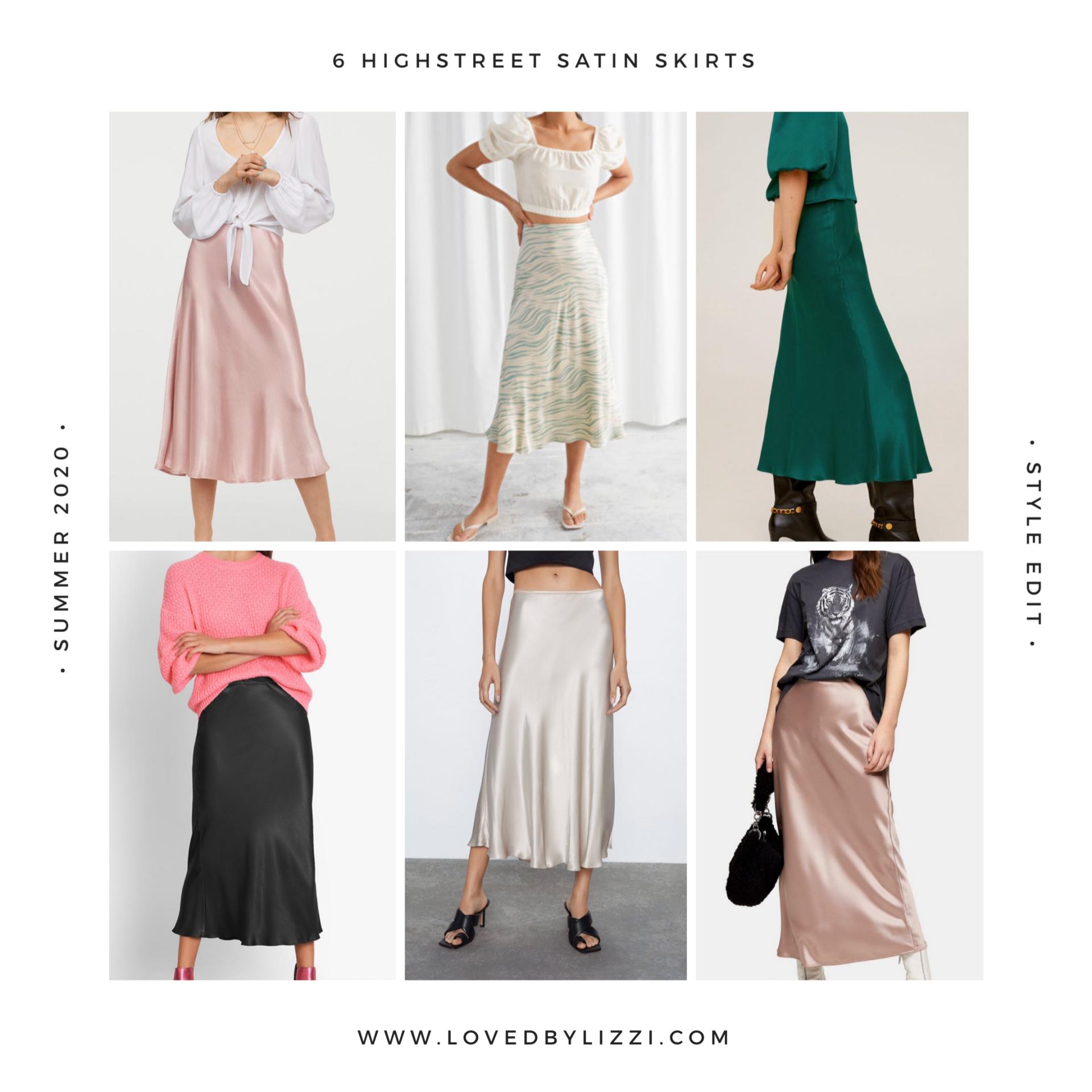 6 Versatile Satin Slip Skirts