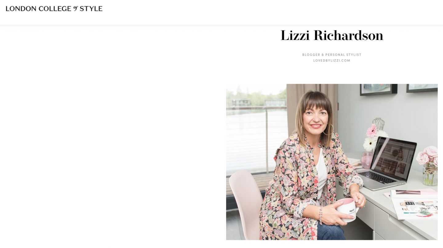 Lizzi Richardson Featured in the London college of atyle