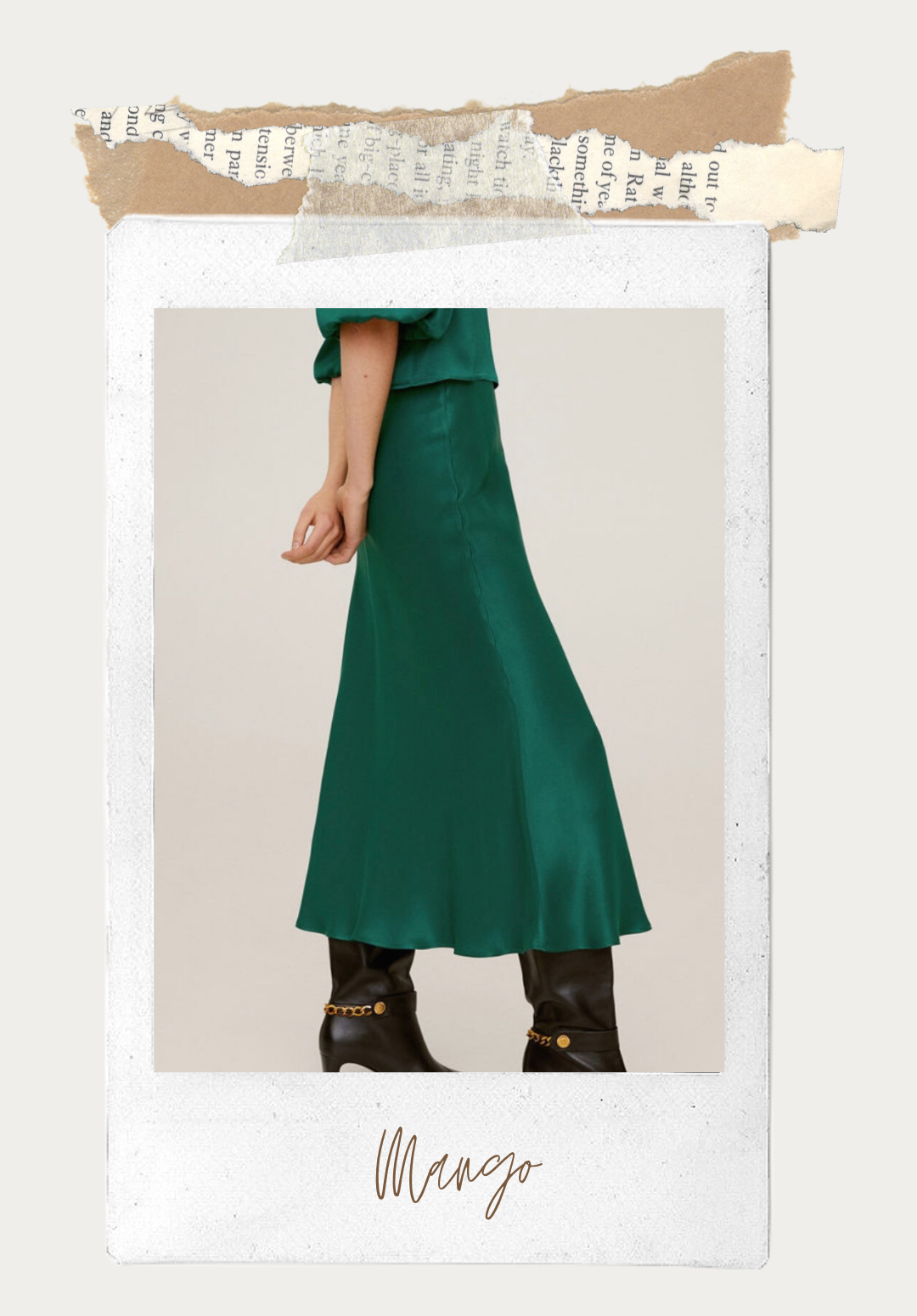 green slip skirt