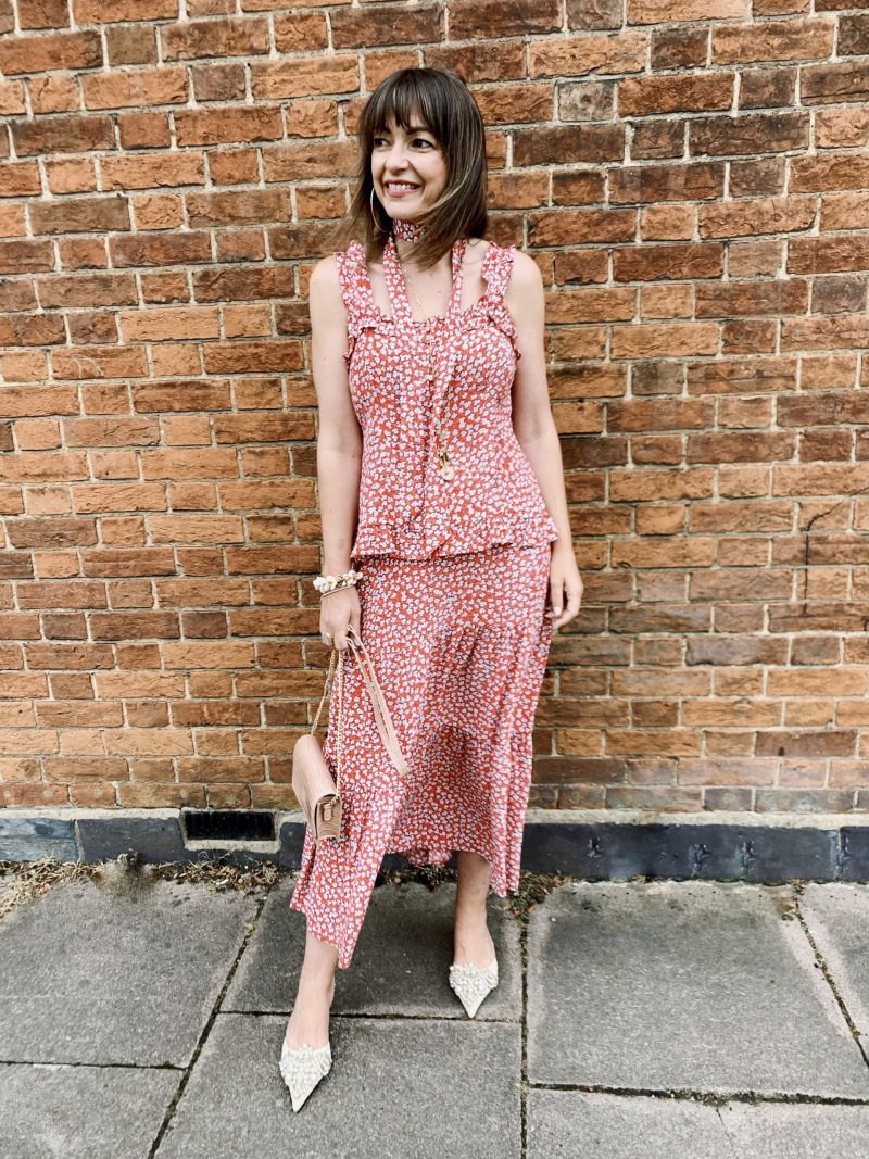 Phase eight Callista ditsy floral ootd