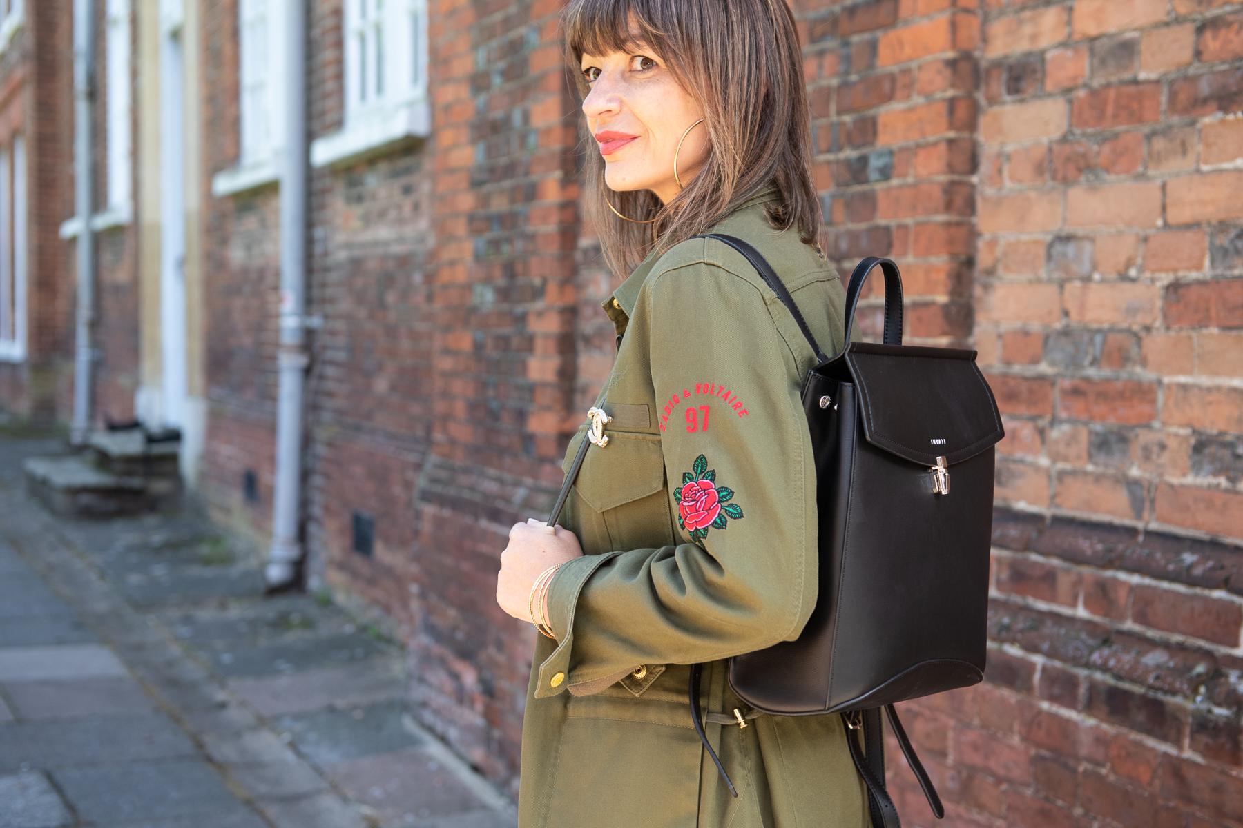 army jacket & rucksack