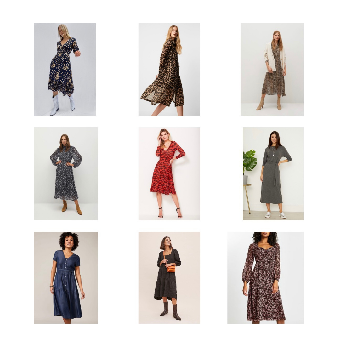 a selection of dresses for this spring for under £50