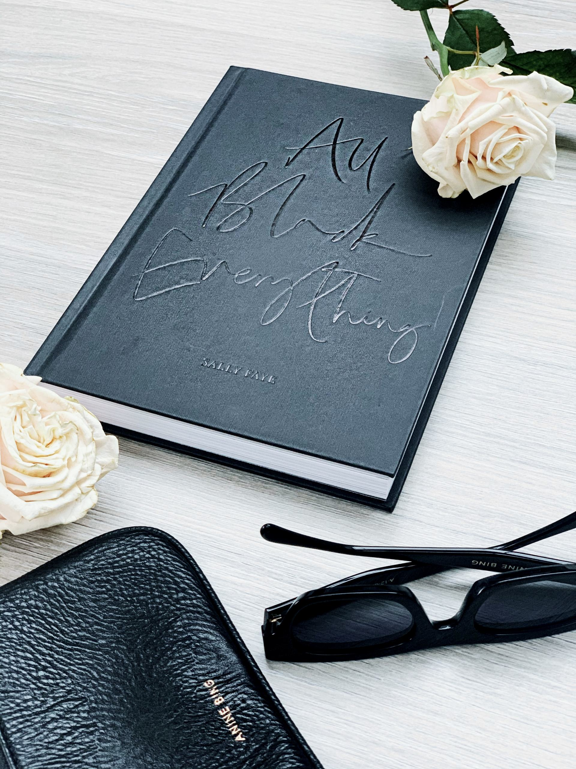Black stylish accessories