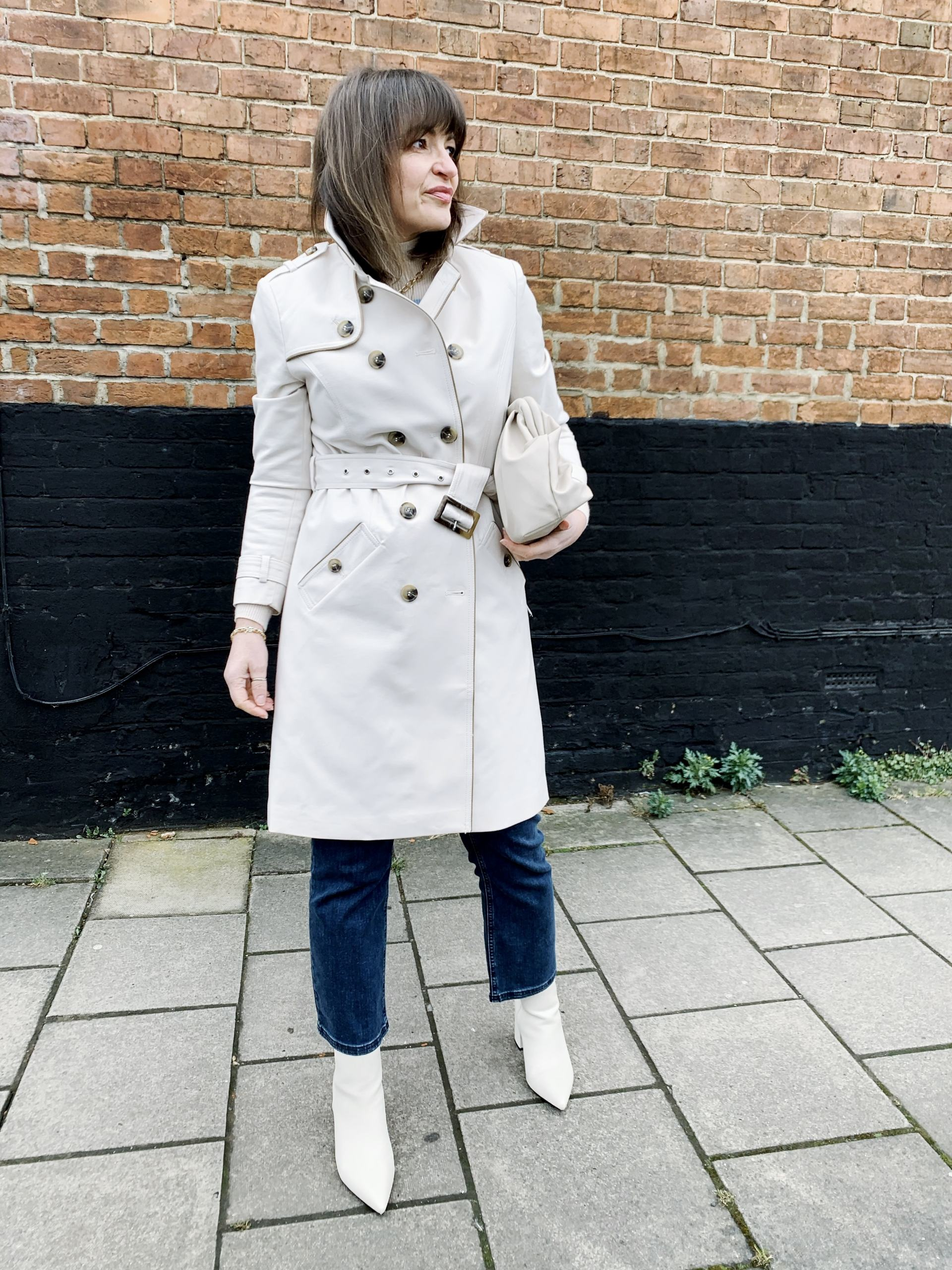 Tali Tipped Trench Coat by Phase Eight worn by Lizzi Richardson