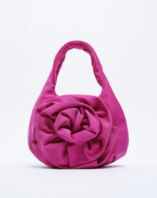Zara pink flower detailed mini bag for summer 2021