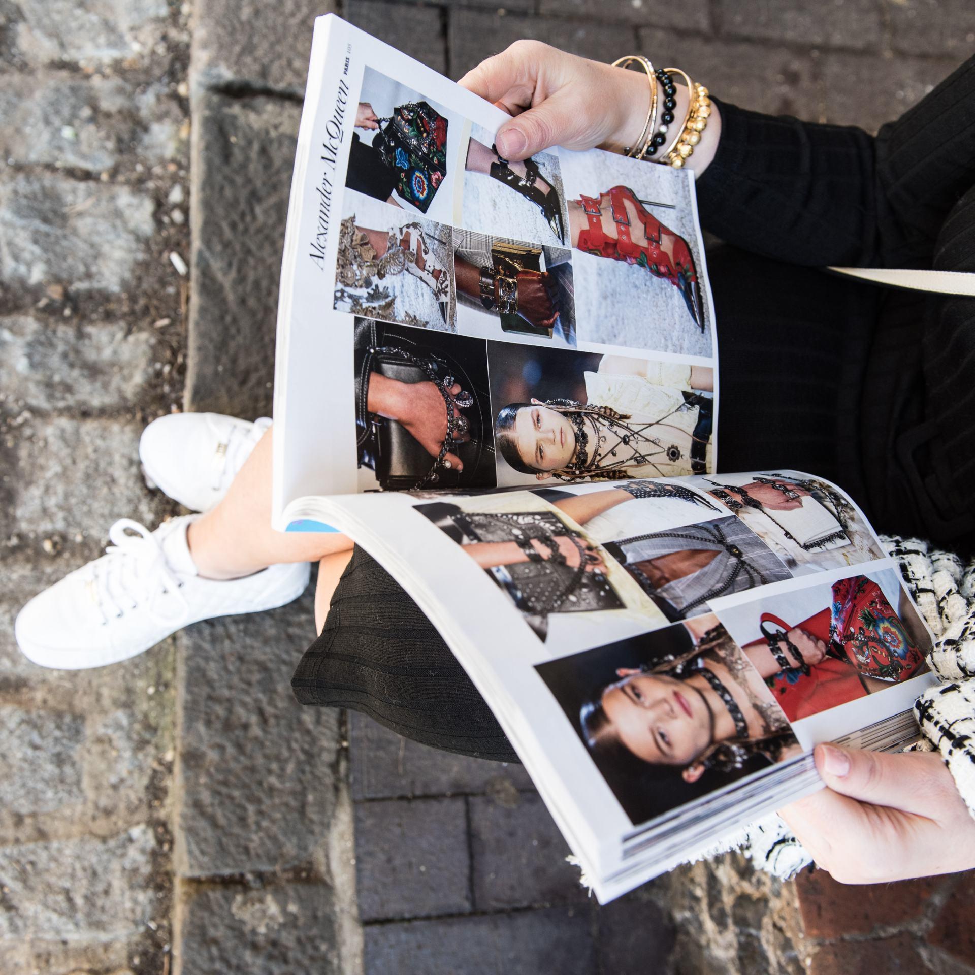 Fashion magazine lifestyle shot