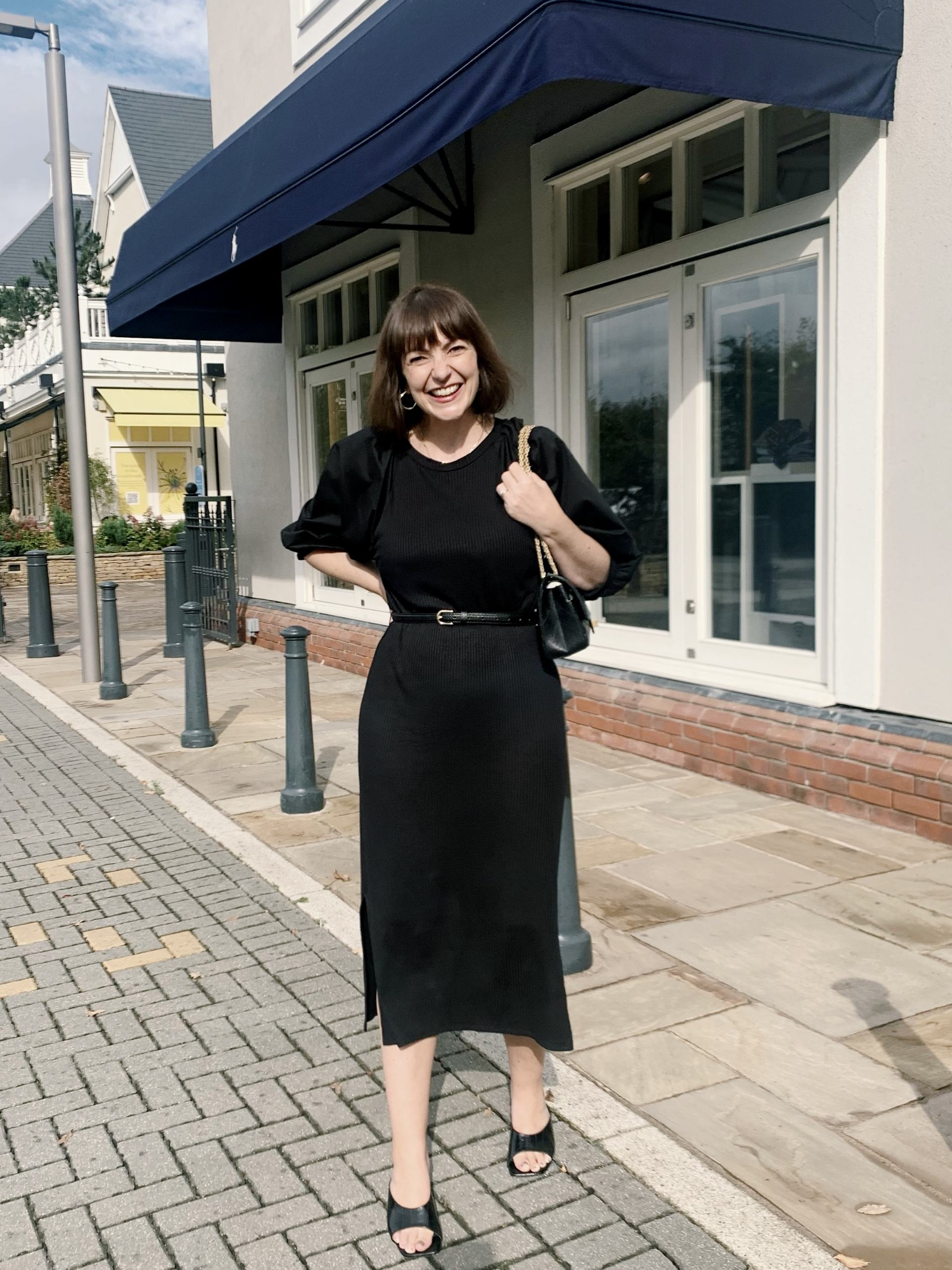 NEW AUTUMN BUYS! Black knitted dress - Lizzi at Bicester Village