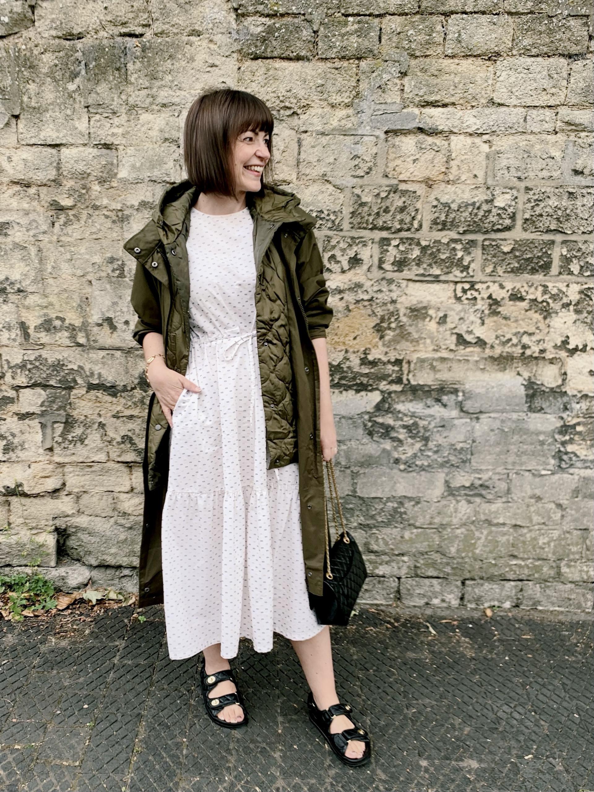 raincoat with summer dress